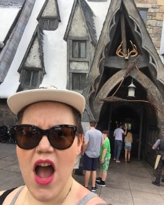 A picture of me visiting the Wizarding World of Harry Potter