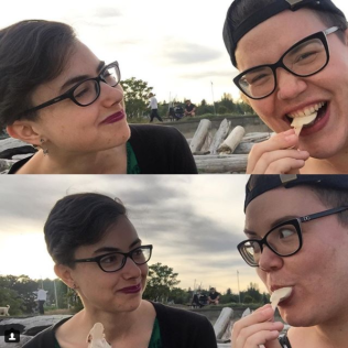 One time Kaarina and I ate vegan ice cream bars on a beach in Victoria