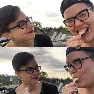 One time Kaarina and I ate vegan ice cream bars on a beach in Victoria
